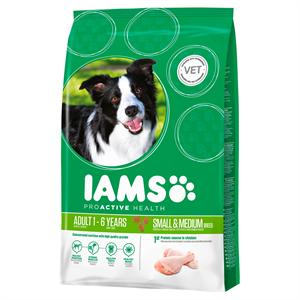 IAMS for Vitality Adult Small & Medium Dog Food with  Fresh chicken 12kg Image 1