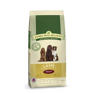 JAMES WELLBELOVED LAMB & RICE ADULT DOG FOOD 15KG Image 1