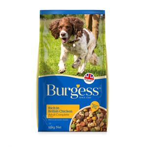 BURGESS ADULT DOG FOOD WITH CHICKEN 15KG Image 1