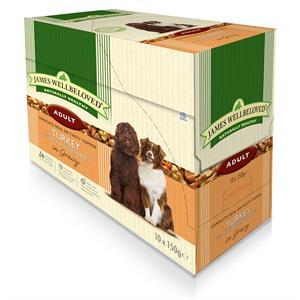 JAMES WELLBELOVED DOG POUCH TURKEY & RICE ADULT 10X150GM  Image 1
