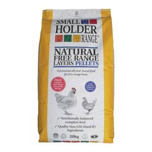 ALLEN & PAGE SMALL HOLDER NATURAL FREE RANGE LAYERS PELLETS 20KG Image 1