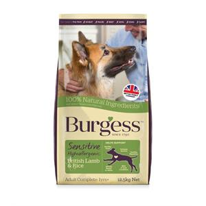 BURGESS SENSITIVE LAMB AND RICE ADULT DOG FOOD 12.5KG Image 1