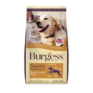 BURGESS SENSITIVE TURKEY AND RICE ADULT DOG FOOD 12.5KG Image 1