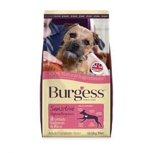 BURGESS SENSITIVE ADULT SALMON and RICE DOG FOOD 12.5KG  Image 1