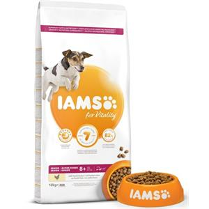 IAMS for Vitality Senior Small and Medium Breed Dog Food with Fresh Chicken 12kg Image 1