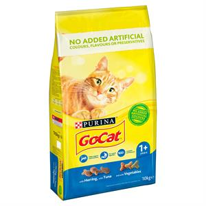 Go Cat Adult Cat Food with Tuna and with Vegetables 10kg Image 1