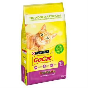 Go Cat Adult Cat Food with Chicken and Duck 10kg Image 1