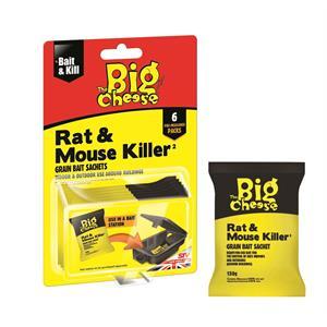 STV244 Rat and Mouse Killer - Grain Bait Sachets 6 x 25g Image 1