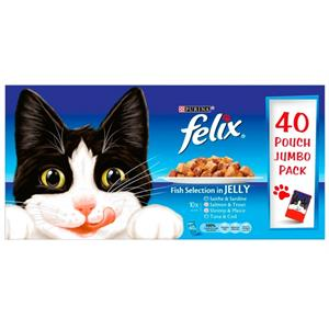 Felix Adult Cat Fish selection in Jelly 40 x 100g Image 1