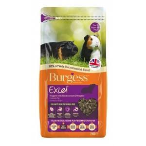 BURGESS EXCEL GUINEA PIG FOOD NUGGETS BLACKCURRANT & OREGANO 2KG Image 1
