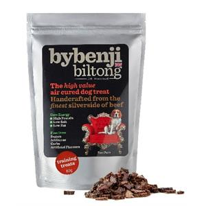 BYBENJI BILTONG DOG TRAINING TREATS 80GM Image 1