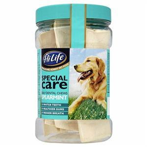 HILIFE DENTAL CHEWS FOR DOGS SPEARMINT (JAR OF 12) Image 1