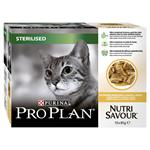 PRO PLAN NUTRI SAVOUR STERILISED CAT POUCH 10*85G (CHICKEN IN GRAVY) thumbnail