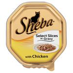 SHEBA ALU TRAY SELECT SLICES in GRAVY with CHICKEN 85G - NEW SIZE thumbnail