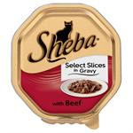SHEBA ALU TRAY SELECT SLICES in GRAVY with BEEF 85G - NEW SIZE thumbnail