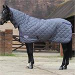 WEATHERBEETA WAVE QUILT 210D COMBO MEDIUM WEIGHT STABLE RUG - SLATE/VIOLET thumbnail