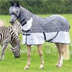 SHIRES TEMPEST ZEBRA PRINT COMBO FLY RUG thumbnail