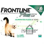 FRONTLINE PLUS SPOT ON CATS / FERRETS 6 PACK thumbnail