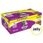 WHISKAS CAT POUCH POULTRY in JELLY 40*100GM thumbnail