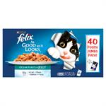 FELIX As Good as it Looks Pouch Ocean Feasts Variety Pack 40 x100G Thumbnail Image 2
