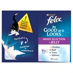 FELIX As Good as it Looks Pouch Variety Pack 40 x 100g Thumbnail Image 4