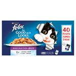 FELIX As Good as it Looks Pouch Variety Pack 40 x 100g Thumbnail Image 1