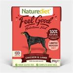 Naturediet Feel Good Chicken & Lamb 18 x 395g thumbnail