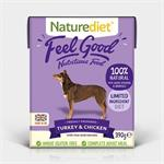Naturediet Feel Good Turkey & Chicken 18 x 390g. thumbnail