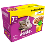 Whiskas Pouches 7+ Senior Poultry Selection Jelly 12 x 100g thumbnail
