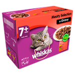 Whiskas Pouches - 7+ Senior Meat Selection Gravy 12 x 100g thumbnail