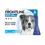 FRONTLINE SPOT ON 1.34ML MEDIUM DOG 6 PACK (10-20kg) thumbnail