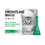 FRONTLINE PLUS SPOT ON CATS / FERRETS 3 PACK thumbnail