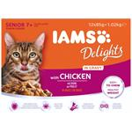 IAMS DELIGHTS with CHICKEN in GRAVY FOR SENIOR CATS 12 x 85g thumbnail
