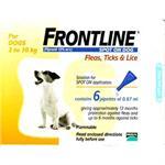 FRONTLINE SPOT ON 0.67ML SMALL DOG 6 PACK (2-10kg) thumbnail