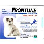 FRONTLINE SPOT ON 1.34ML MEDIUM DOG 3 PACK (10-20kg) thumbnail