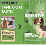 BURGESS SENSITIVE LAMB AND RICE ADULT DOG FOOD 12.5KG thumbnail