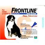 FRONTLINE SPOT ON 4.02ML X LRG DOG 6 PACK (40-60kg) thumbnail