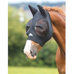 SHIRES STRETCH FLY MASK - BLACK thumbnail