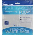 ANCOL NEW BIO DEGRADABLE POO BAGS 40 BAGS thumbnail